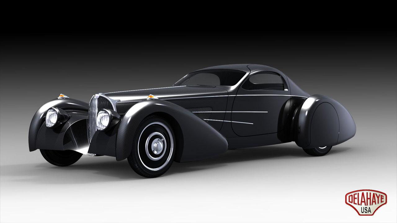 Delahaye usa bella figura bugnotti coupe (special car)