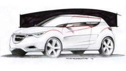 Saab 91 Design Sketch