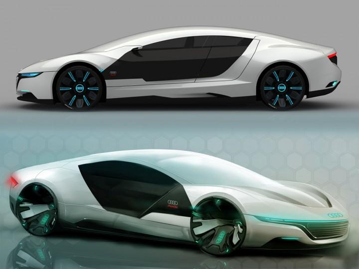 Audi A9 Concept Car Body Design