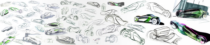 Hyundai Aebulle Concept Ideation Sketches