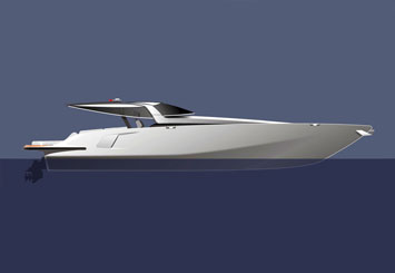 Yacht Design Sketch by Mercedes-Benz Style