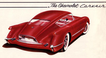 1954 Chevrolet Corvette Corvair Concept Drawing