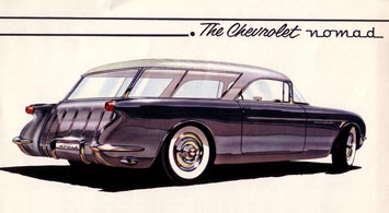 1954 Corvette Nomad Wagon Drawing