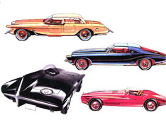 1960 Plymouth XNR Sketches