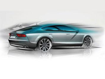 Audi A7 Sportback Design Sketch