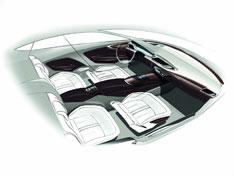 Audi A7 Sportback Interior Design Sketch