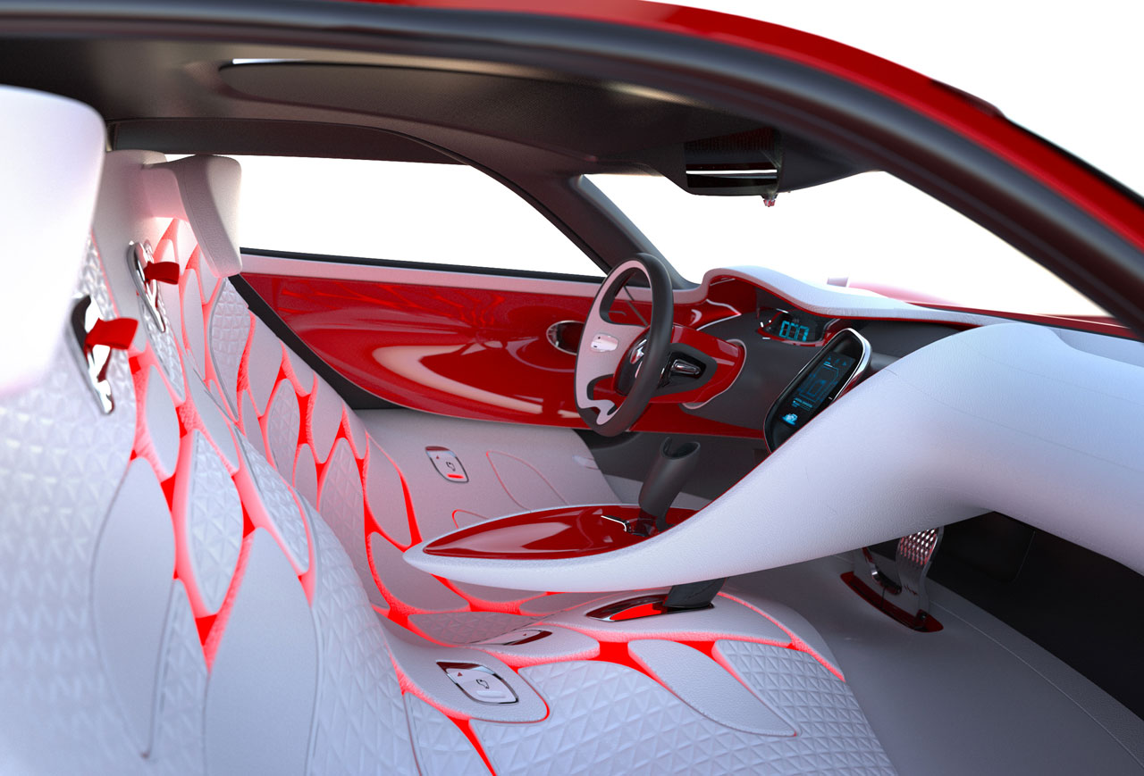 Renault dezir concept car body design for Custom automotive interior designs
