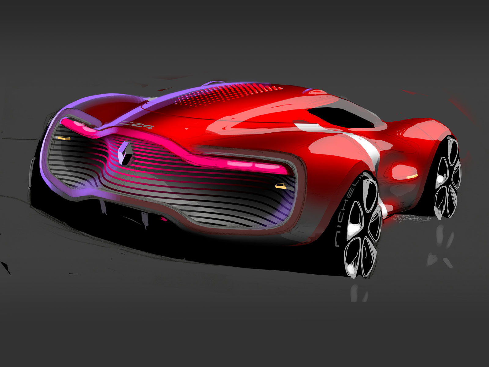 renault dezir concept design sketch   car body design