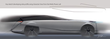 Wally Concept Car Design Sketch