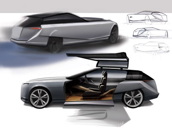 distinctive design language and applying it to an automotive concept