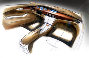 Mercedes-Benz CLS Interior Design Sketch
