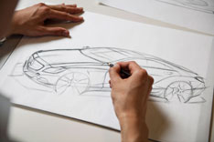 Mercedes-Benz CLS Design Sketch