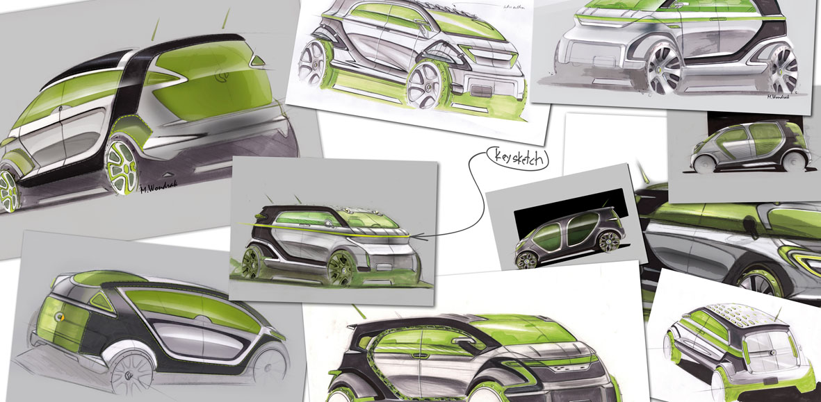 Smart Bus Concept Design Sketch