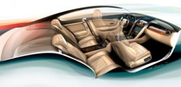 Bentley Continental GT Interior Design Sketch