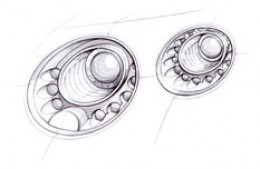 Bentley Continental GT Light Design Sketch