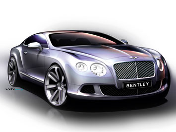 The new Bentley Continental GT  Car Body Design