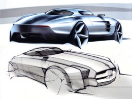 Mercedes-Benz SLS AMG Design Sketches