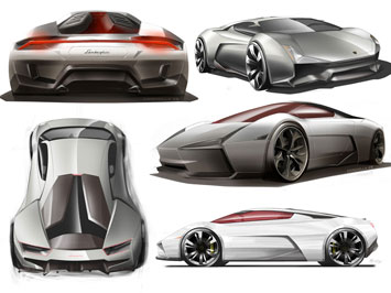 Lamborghini Indomable Design Sketch
