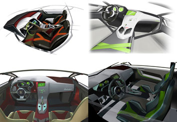 Lamborghini Indomable Interior Sketch