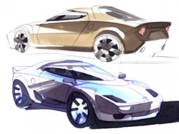 Lancia Stratos Design Sketches