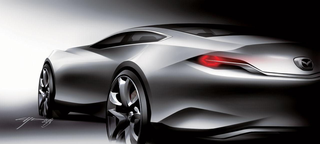 Mazda Shinari Concept Design Sketch - Car Body Design