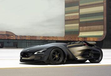 Peugeot Ex1 Concept Car Body Design