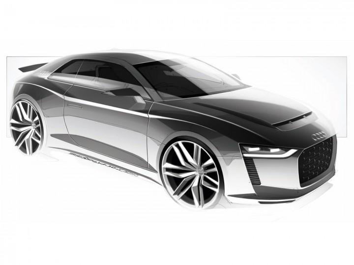 Audi Quattro Concept Car Body Design
