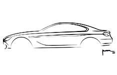 BMW 6 Series Coupe Concept Design Sketch