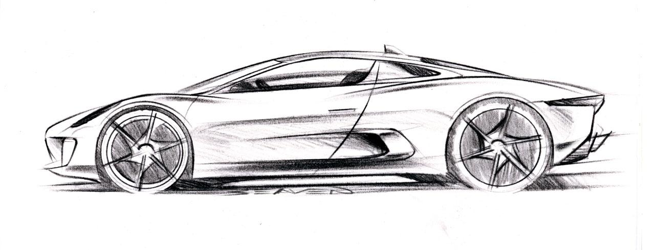 Jaguar C X Concept Design Sketch Lg on Volvo S60 Sketch