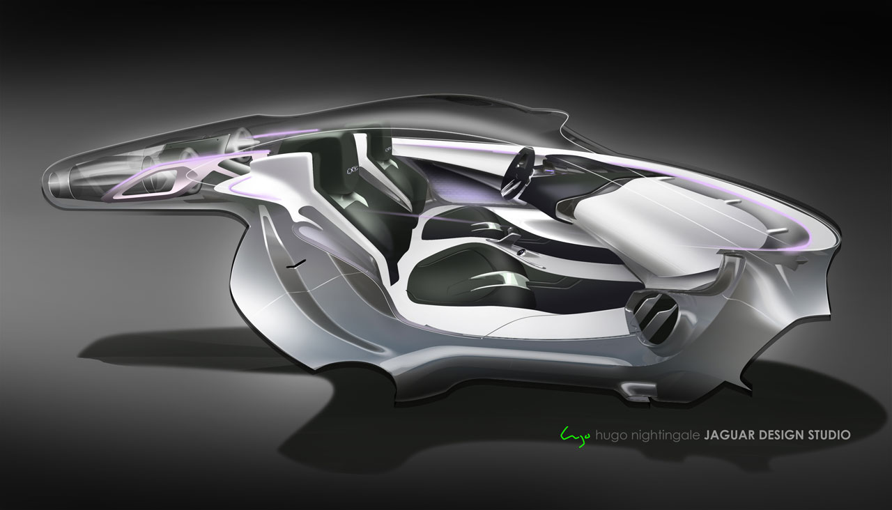 jaguar c x75 concept interior design sketch car body design. Black Bedroom Furniture Sets. Home Design Ideas