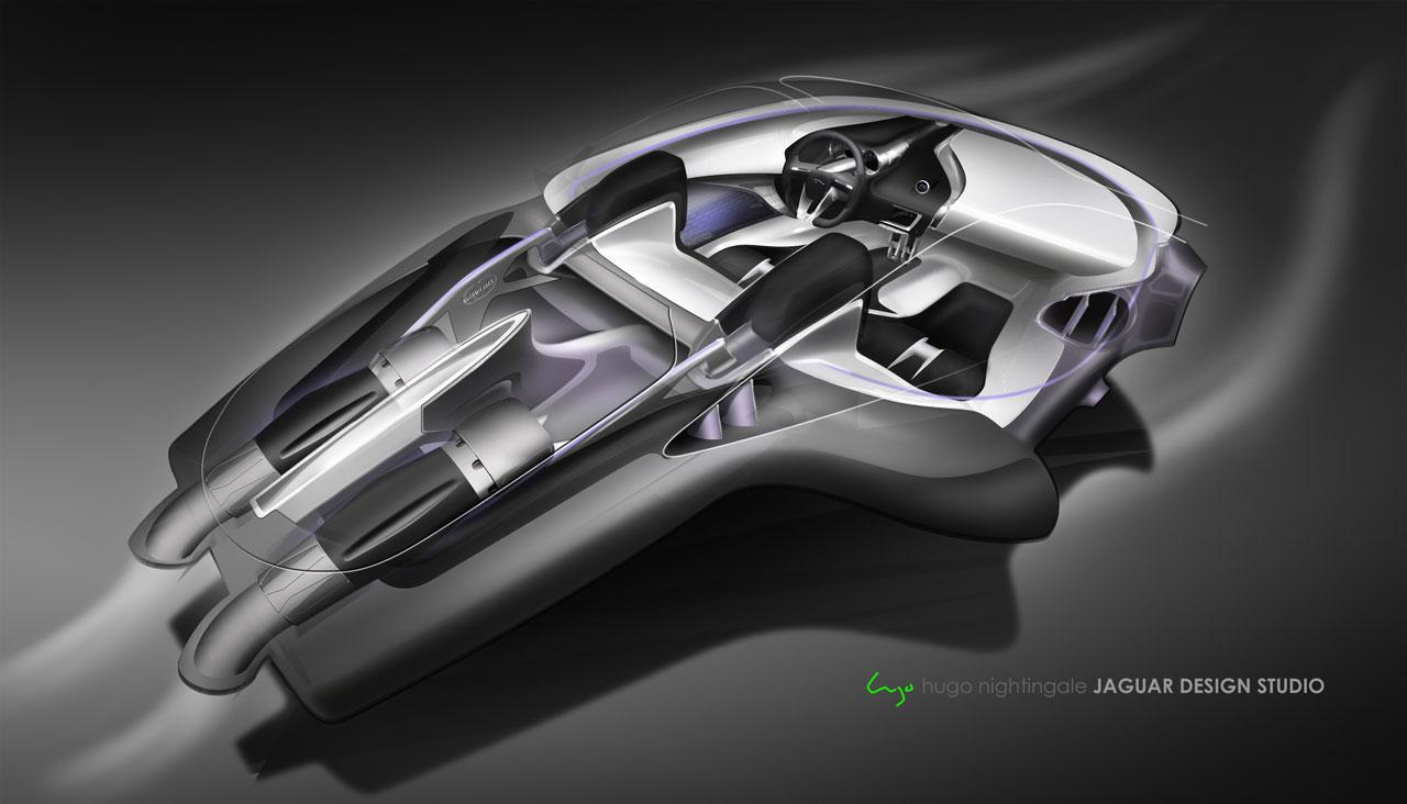 jaguar c x75 concept interior design sketch car body design. Black Bedroom Furniture Sets. Home Design Ideas