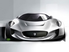 Jaguar C-X75 Concept: design sketches