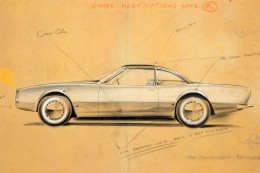 1961 Studebaker Avanti Concept Design Sketch by Raymond Loewy