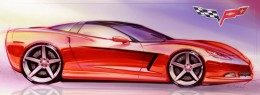 2005 Chevrolet Corvette Design Sketch
