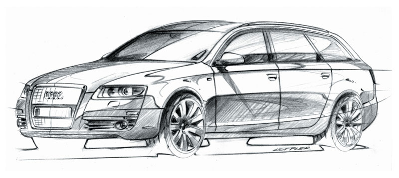 Audi A Avant Design Sketch Car Body Design - Audi car drawing