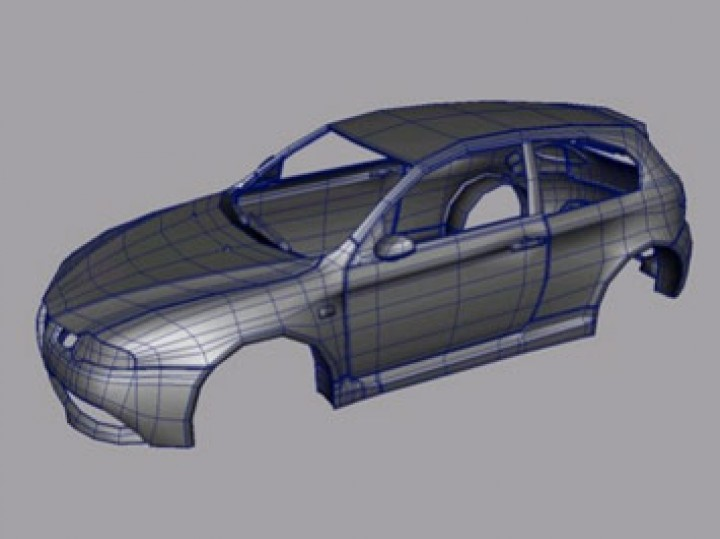 Modeling a car body in T-Splines