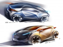 Hyundai HND 4 Blue Will Concept Design Sketches