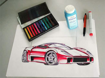 Ferrari drawing tutorial