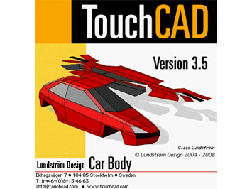 Car body modeling in TouchCAD