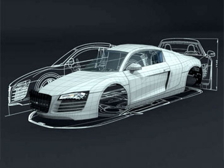making of the audi r8 in 3ds max car body design. Black Bedroom Furniture Sets. Home Design Ideas
