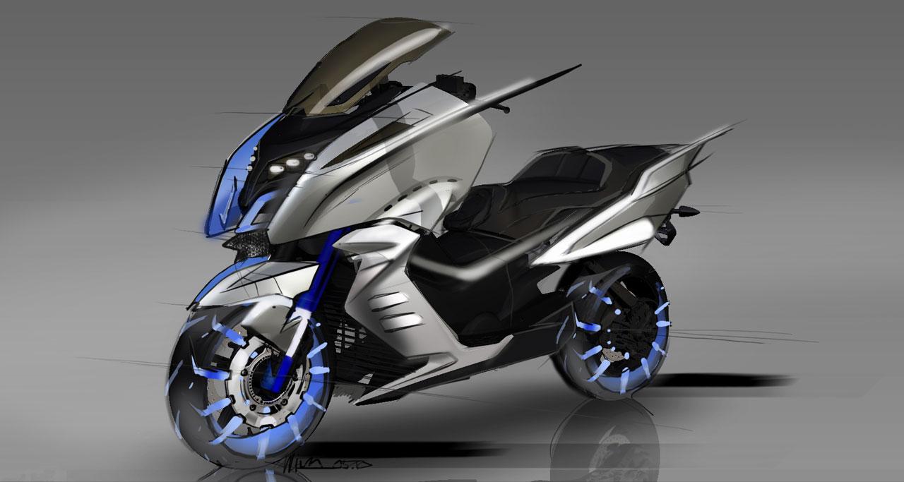 BMW Concept C Scooter Design Sketch - Car Body Design