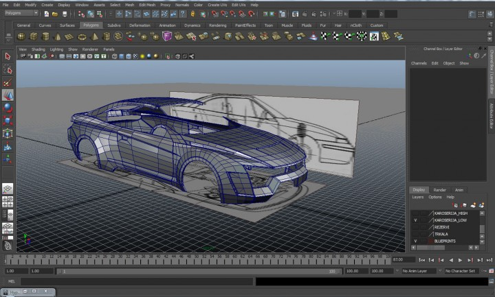New level mako kit car body design Blueprint designer free