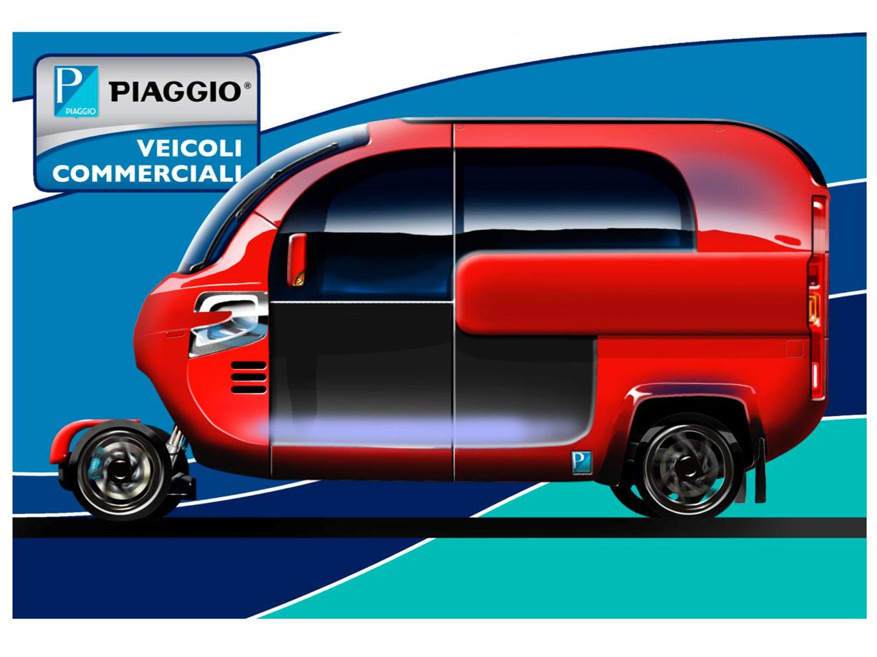 Piaggio New Ape Concept Rendering Car Body Design