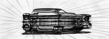 Car Drawing by Chuck Jordan