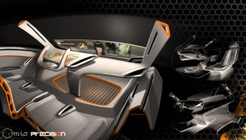 Fiat Mio FCC III Concept Interior Rendering