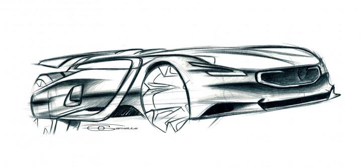 ... Peugeot EX1 Concept Design Sketch