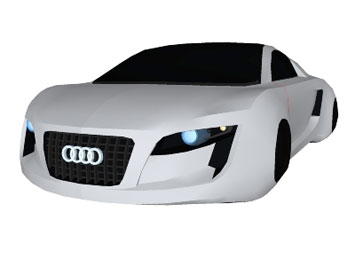 Audi RSQ Concept Free D Model Car Body Design - Audi car 3d