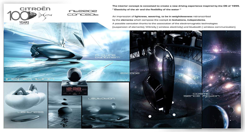 Citroen ds24 concept interior inspiration car body design for Inspiration concept interior design llc