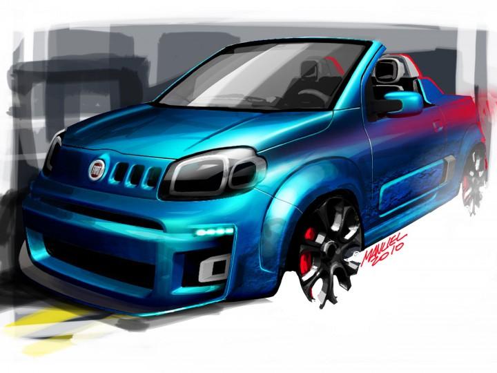 Design Story The Fiat Uno Cabrio Concept Car Body Design