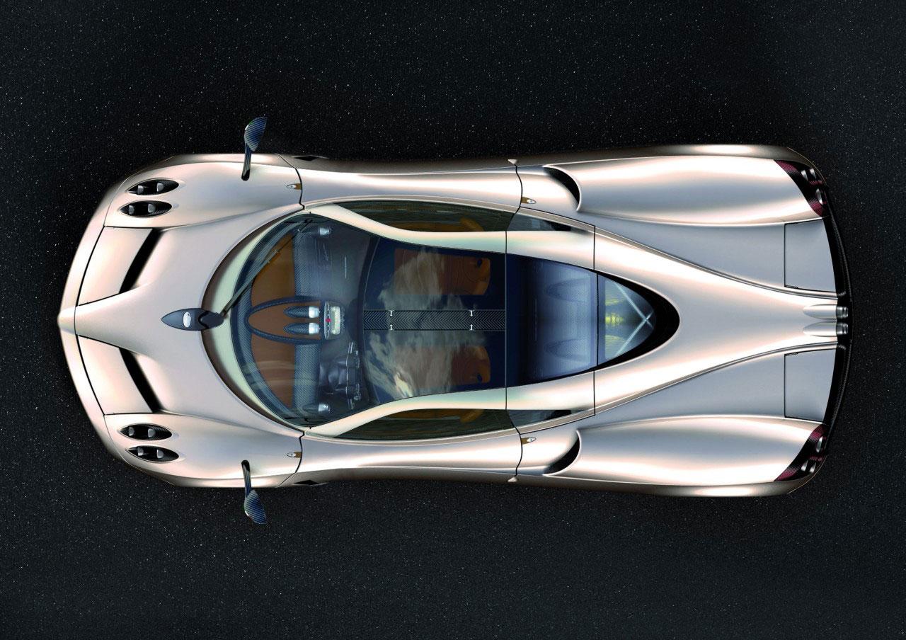 Pagani Huayra Top View - Car Design